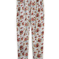 Pleated Floral Joggers (Kids)