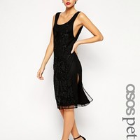 ASOS PETITE Exclusive Victorian Street Embellished Column Dress