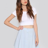 Austin Mini Skirt - Chambray