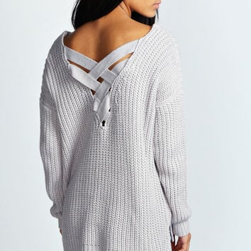 Sonia Cross Back Chunky Knit Jumper