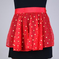 Vintage Sheer Red Polka-dot Hostess Apron | VintageAnelia - Kitchen &amp; Serving on ArtFire