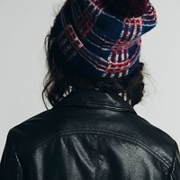 Free People Printed Pom Pom Beanie