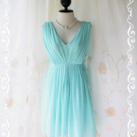 My Darling  Sweet Glamorous Mint Blue by LovelyMelodyClothing