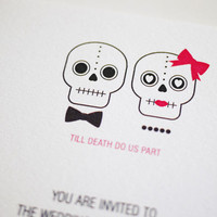 Till Death Do Us Part - Wedding Invitation (PRINTABLE) | Luulla