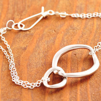Silver Eternity Circle Bracelet  silver circle by MegusAttic