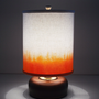 $85.00 The Kiki Lamp with DipDyed White Canvas Drum Lampshade by REGOllc