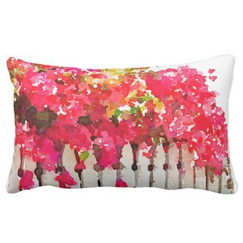 Bougainvillea accent cushion