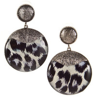 Snow Leopard Retro Earrings