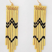 Southwestern Sunset Gold Earrings
