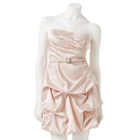 City Triangles Pick Up-Style Bubble Strapless Dress - Juniors