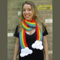 Rainbow Cloud Scarf by ManifestedDreams on Etsy