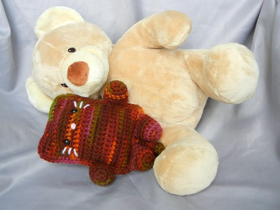 Amigurumi Cat Crochet Doll Orange MultiColor by CroweShea on Etsy