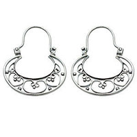 Novica Our Three Hearts Sterling Silver Hoop Earrings | Jewelry and Accessories | World Market