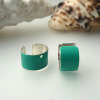 Colorful Turquoise EAR CUFFS  So Beautiful by basicjewellerysuppli
