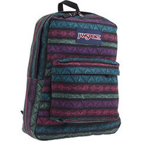 JanSport SuperBreak®  Black/Purple Slick Tribal Lines - 6pm.com