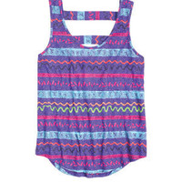 Tribal Cut Out Back Tank