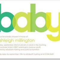 Baby Shower Invitations - Chic Color by Tiny Prints