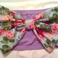 lavender floral bow bandeau by aznemilyyy on Etsy