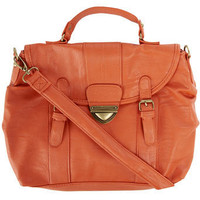 Orange triangle lock satchel - View All - Hidden - Handbags &amp; Purses - Dorothy Perkins