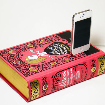 Alice in Wonderland Book Charger for iPhone 4S and by CANTERWICK