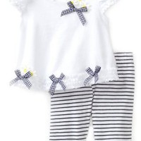 Biscotti Baby-Girls Infant Daisy Chain Top And Pant Infant Set