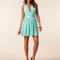 Wrap Front Party Dress - Paprika - Aqua - Festklnningar - Klder - NELLY.COM Mode online p ntet