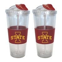 Iowa State Cyclones 2-pk. No-Spill Tumblers With Straws