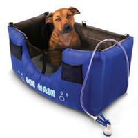The Only Inflatable Dog Shower - Hammacher Schlemmer $120