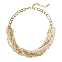 Apt. 9 Gold Tone Simulated Pearl Braided Necklace