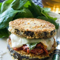 Looks sooo good. Eggplant Parmesan Stacks.