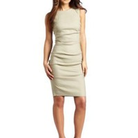 Nicole Miller Women's Sleevless Tuck Dress