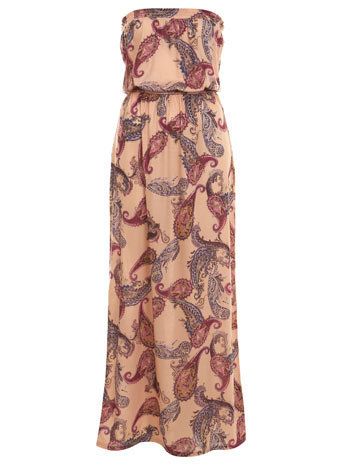 Paisley Double Shirred Maxi - Miss Selfridge