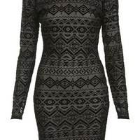 Burnout Mesh Bodycon Dress - View All - Going Out - Miss Selfridge