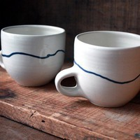 Seneca Mug Pair by clamlab on Etsy