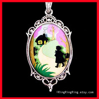 Little red riding hood pendant Wolf Silver by RingRingRing on Etsy