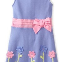 Hartstrings Girls 2-6X Interlock Floral Zipped Dress