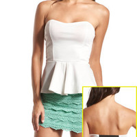 Charlotte Russe - Foiled Peplum Tube Top
