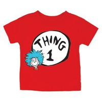 Dr. Seuss Thing One Short Sleeve T-Shirt, 12 Month