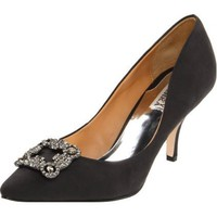 Badgley Mischka Women`s Gavi Pump,Black Silk,6 M US