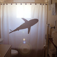 Shark SHOWER CURTAIN by CustomShowerCurtains