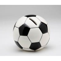 Black and White Soccer Ball Shaped/Designed Piggy Bank Collectible
