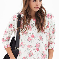 Clustered Rose Print Top