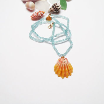 Sunrise Shell Topaz Necklace Made in Hawaii