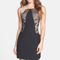 BCBGMAXAZRIA 'Avery' Lace Accent Sheath Dress | Nordstrom