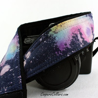 310 Galaxy Camera Strap, Hand painted, One of a Kind, dSLR or SLR, Cosmos, Nebula, OOAK