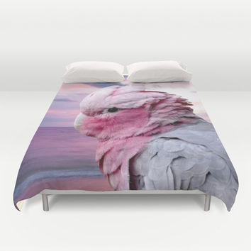Galah Cockatoo Duvet Cover by Erika Kaisersot