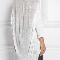 Raquel Allegra | Shredded cotton-blend jersey top | NET-A-PORTER.COM