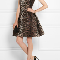 Lanvin | Leopard-jacquard mini dress | NET-A-PORTER.COM