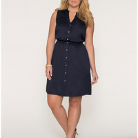 Full Figure Sleeveless Shirt Dress by Lane Bryant | Lane Bryant
