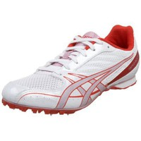ASICS Women`s Hyper-Rocketgirl 4 Track & Field Shoe,White/Petal Pink/Cherry,12 B US